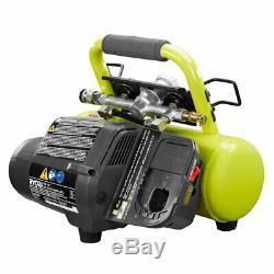 RYOBI 1 Gallon 120 PSI 18V Cordless Battery Portable Air Compressor for Car Tire