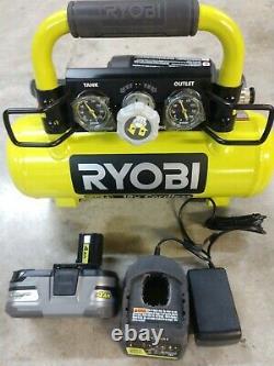 RYOBI 18V One+ Cordless Portable 1 Gallon Air Compressor Kit Model# P739