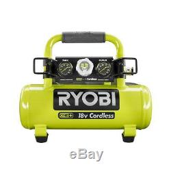 RYOBI ONE+ 18 Volt 1 Gallon Portable Air Compressor 120 PSI Max Cordless P739