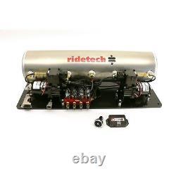 Ride Tech 5 Gallon Airpod, Ridepro X Control Kit, Upgraded Ride Height Sensors
