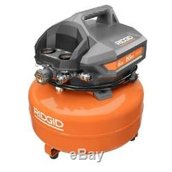 Ridgid 6 Gallon 150 PSI Maintenance Free Portable Electric Pancake Compressor