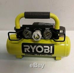 Ryobi 18V 1 Gallon Compressor Combo With 18 GA Brad Nailer P739BK (O)