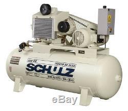 Schulz Air Compressor 15hp 120 Gallon Tank Oil Free