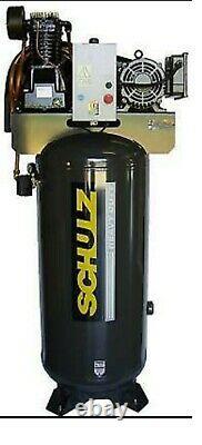 Schulz Air Compressor 7.5hp Single Phase 80 Gallon Tank 30cfm 175 Psi