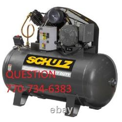 Schulz Air Compressor 7.5hp Single Phase 80 Gallon Tank 30cfm New