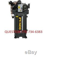 Schulz V-Series 7580VV30X-3 7.5-HP 80-Gallon Two-Stage Air Compressor 3 phase