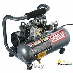 Senco PC1010 1-Horsepower Peak, 1/2 hp running 1-Gallon Compressor, Gray/Red