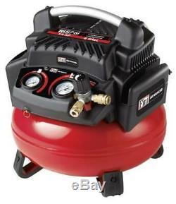 Set of 4 Portable 6 Gallon 165 PSI Pancake Electric Air Compressor & 3 Combo Kit