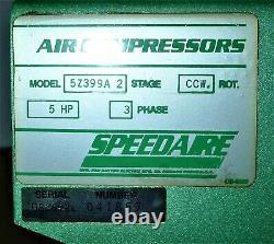 Speedaire 5Z399A 3-Phase 2-Stage 5HP 80-Gallon Air Compressor