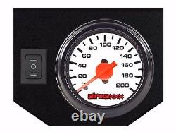Tow Assist Air Bag Over Load Kit Wht Gauge Tank For 01-10 Chevy 2500 3500 Truck