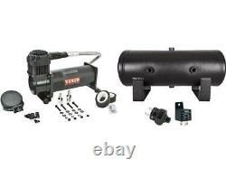 VIAIR 444C Black Air Compressor with 2 Gallon Tank 120 PSI Pressure Switch & Relay