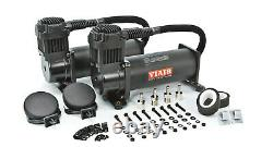 VIAIR Dual 444C Stealth Black Air Compressors with 8 Gallon Tank for Train Horns