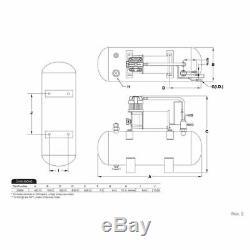 Viair 2 Gallon Tank Kit With 12V High Flow 150 psi Air Compressor 20005
