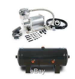 Viair 350C 150 PSI Max Silver Air Compressor W 2 Gallon 6 Port Tank Train Horns