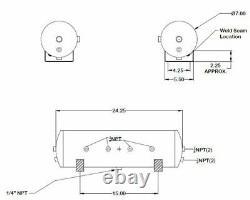 Viair 444C CHROME Dual Pack Air Compressors 200 PSI w 4 Gallon 9 Port Air Tank