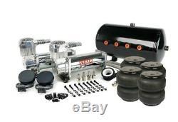 Viair 444C Chrome Air Compressors w 5 Gallon Tank & Air Lift Dominator 2600 Bags