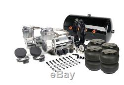 Viair 480C Chrome Air Compressors w 5 Gallon Tank & Air Lift Dominator 2600 Bags