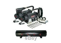 Viair 485C Black Dual Air Compressor 200 PSI Max With 5 Gallon 7 Port Air Tank