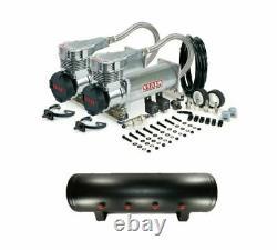 Viair 485C PLATINUM Dual Pack Air Compressors 200 PSI w 4 Gallon 9 Port Air Tank
