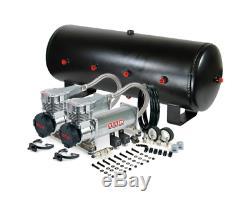 Viair 485C Platinum Dual Air Compressor W 7 Gallon 8 3/8 Port Steel Air Tank