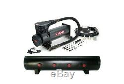 Viair 485C Single BLACK Air Compressor with 5 Gallon 7 Port 7 Diameter Air Tank