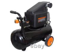 WEN 2287 6-Gallon Oil-Lubricated Portable Horizontal Air Compressor NEW