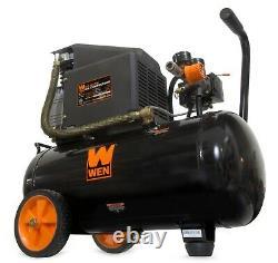 WEN 6-Gallon Oil-Lubricated Portable Horizontal Air Compressor BLACK NEW