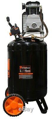 Wen 2202 20-Gallon Oil-Lubricated Portable Vertical Air Compressor