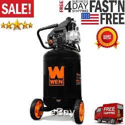 Wen 2202 20-Gallon Oil-Lubricated Portable Vertical Air Compressor New