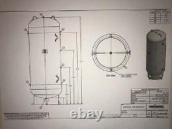^new 400 Gallon Vertical Air Tank On 8 Base Ring -200 Psi- A10056x